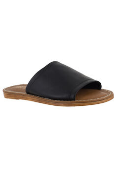 Ros-Italy Sandals by Bella Vita®, BLACK LEATHER, hi-res