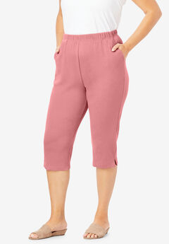 Soft Knit Capri Pant, DESERT ROSE