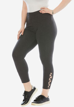 Stretch Crop Lattice Legging,