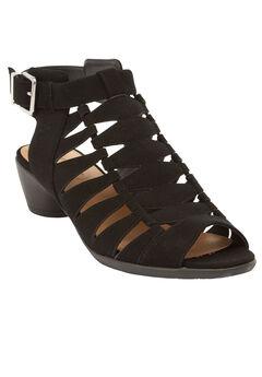 Kadie Sandals by Comfortview®, BLACK, hi-res