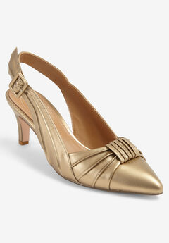 The Breanne Slingback by Comfortview®, GOLD