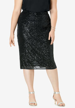 Sequin Pencil Skirt,
