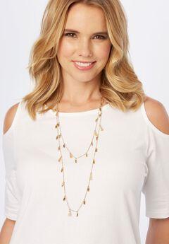 Tassel Necklace, GOLD, hi-res
