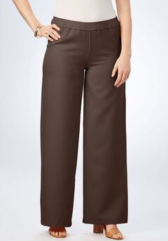 Bend Over® Wide-Leg Pant, CHOCOLATE