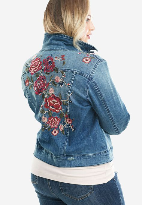 e0ef94b94657d Denim 24 7® Embroidered Jean Jacket