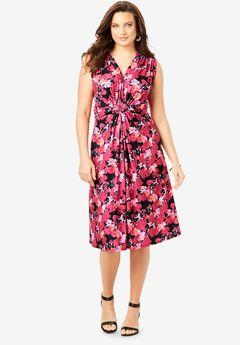 Knot-Front Stretch Jersey Dress,