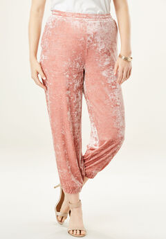 Crushed Velour Jogger, DUSTY ROSE