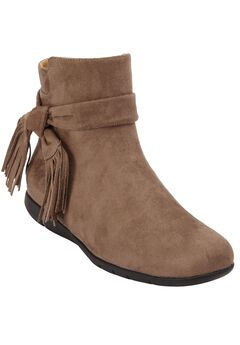 Daryl Booties by Comfortview, DARK TAUPE, hi-res