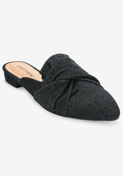 The Mayli Mule by Comfortview®, BLACK