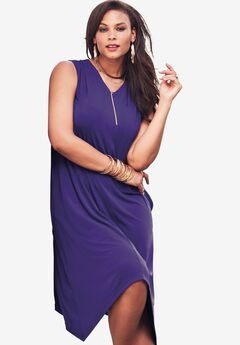 Everywhere Trapeze Dress, MIDNIGHT VIOLET, hi-res