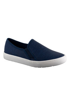 Plaza Slip-Ons by Easy Street®, DENIM LINEN, hi-res