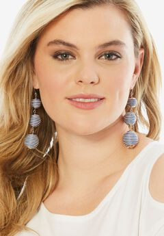 BALL DROP EARRINGS.,