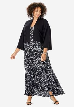 Cropped Kimono-Sleeve Cardigan,