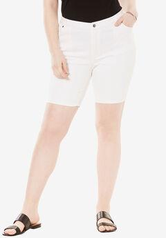 Denim Shorts by Denim 24/7, WHITE DENIM, hi-res
