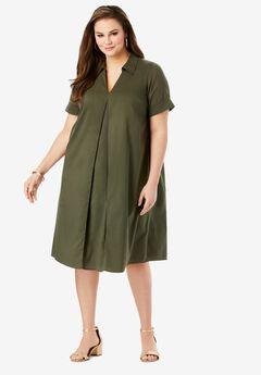 Collared Swing Dress,