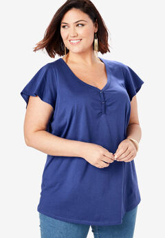 ef50cdd210 Sweetheart Ultimate Tee with Flutter Sleeves