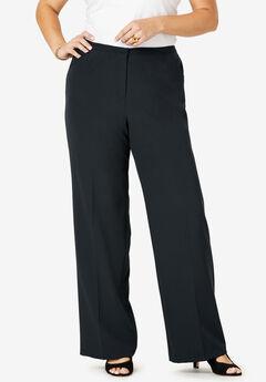 Suiting Wide-Leg Trouser, BLACK