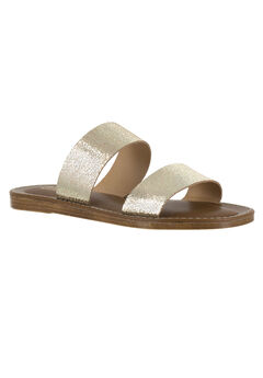 Imo-Italy Sandals by Bella Vita®, CRACKED GOLD LEATHER