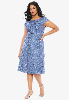 Rosette Dress by Alex Evenings, BRUSH PEARL, hi-res