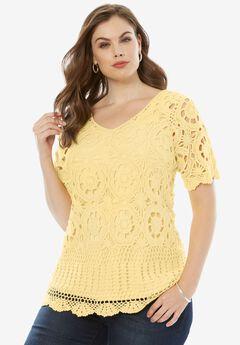 Crochet Sweater, BANANA