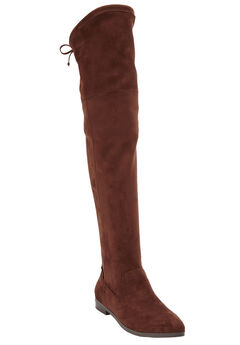 Cameron Tall Calf Boots by Comfortview®, BROWN, hi-res