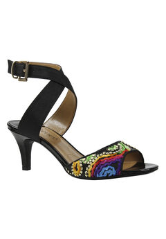Soncino Sandals by J. Renee®, BLACK BRIGHT MULTI, hi-res
