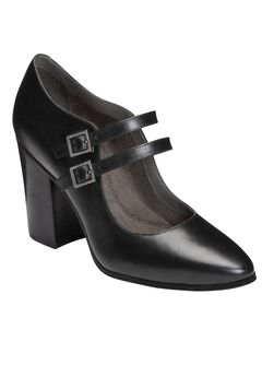 Washington Square Pumps by Aerosoles®, BLACK LEATHER, hi-res