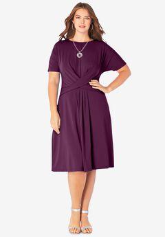Ultrasmooth® Twist-Front Dress,