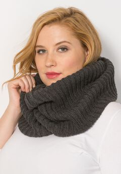 Circular Sweater Scarf, MEDIUM HEATHER GREY, hi-res