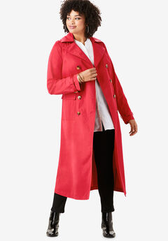 Essential Trench Coat, VIVID RED