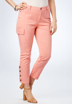 Skinny Cargo Pant, PRETTY CORAL