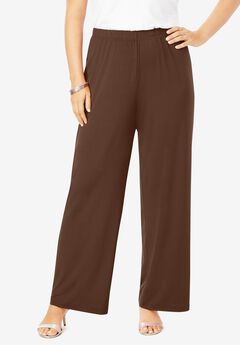Ultra Smooth Wide-Leg Pant, RICH BROWN