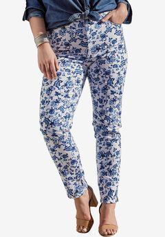 Floral Print Skinny Jean, BLUE PRINT, hi-res