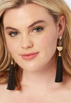 Geometric Tassel Earrings,