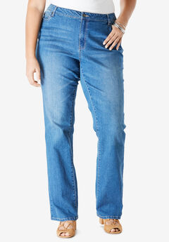 Bootcut Jean with Invisible Stretch® by Denim 24/7®, MEDIUM WASH