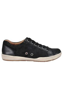 Lyons Sneakers by Comfortiva®, BLACK SUEDE, hi-res