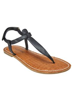 Lainey Sandals by Comfortview®, BLACK, hi-res