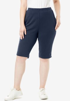 Soft Knit Bermuda Short, NAVY