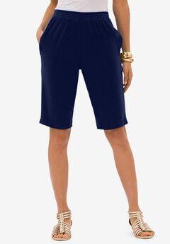 Soft Knit Bermuda Short, NAVY