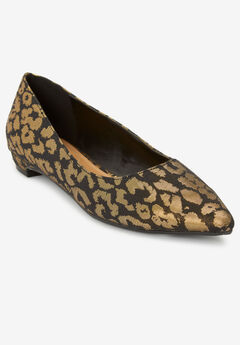 The Olive Flat by Comfortview®, METALLIC LEOPARD