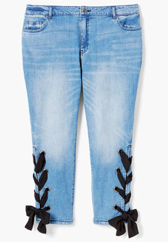 Lace-Up Skinny Jean By Denim 24/7®,
