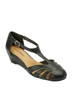 Zora T-strap Pump by Comfortview®, BLACK, hi-res