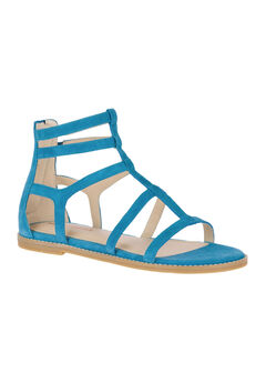 Abney Chrissie Lo Sandals by Hush Puppies®, CELESTIAL BLUE SUEDE, hi-res