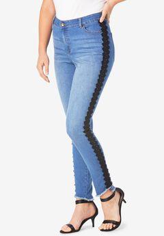 Side-Stripe Skinny Jean By Denim 24/7®,