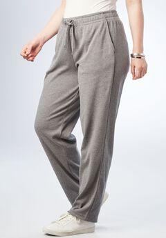 Straight Leg Soft Knit Pant, MEDIUM HEATHER GREY, hi-res