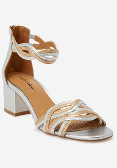 The Bobbi Sandal by Comfortview®, SILVER MULTI