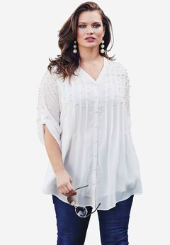 Embellished Tunic, WHITE PEARL, hi-res