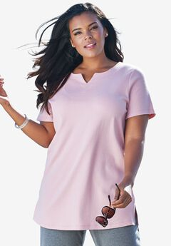 Notch Neck Tunic, ROSE MIST, hi-res