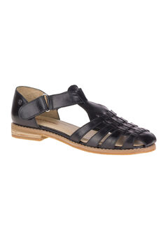 Chardon Fisherman Sandals by Hush Puppies®, BLACK LEATHER, hi-res
