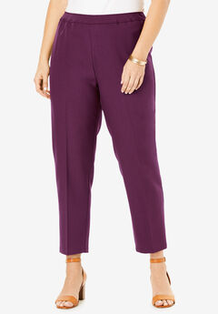 Ankle-Length Bend Over® Pant, DARK BERRY